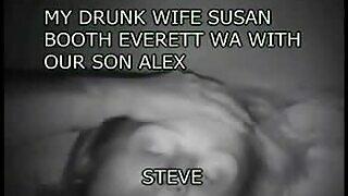 Nëna e dehur e kremtuar nga djali
