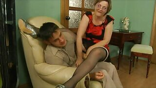 Wild mature fucked intensely by her son