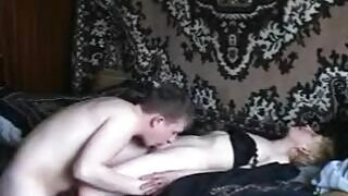 Blonde Russian slut gets fucked by her stepson